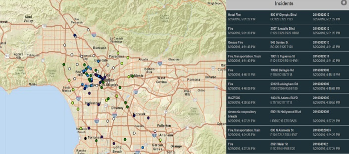 live incident map fire incident command