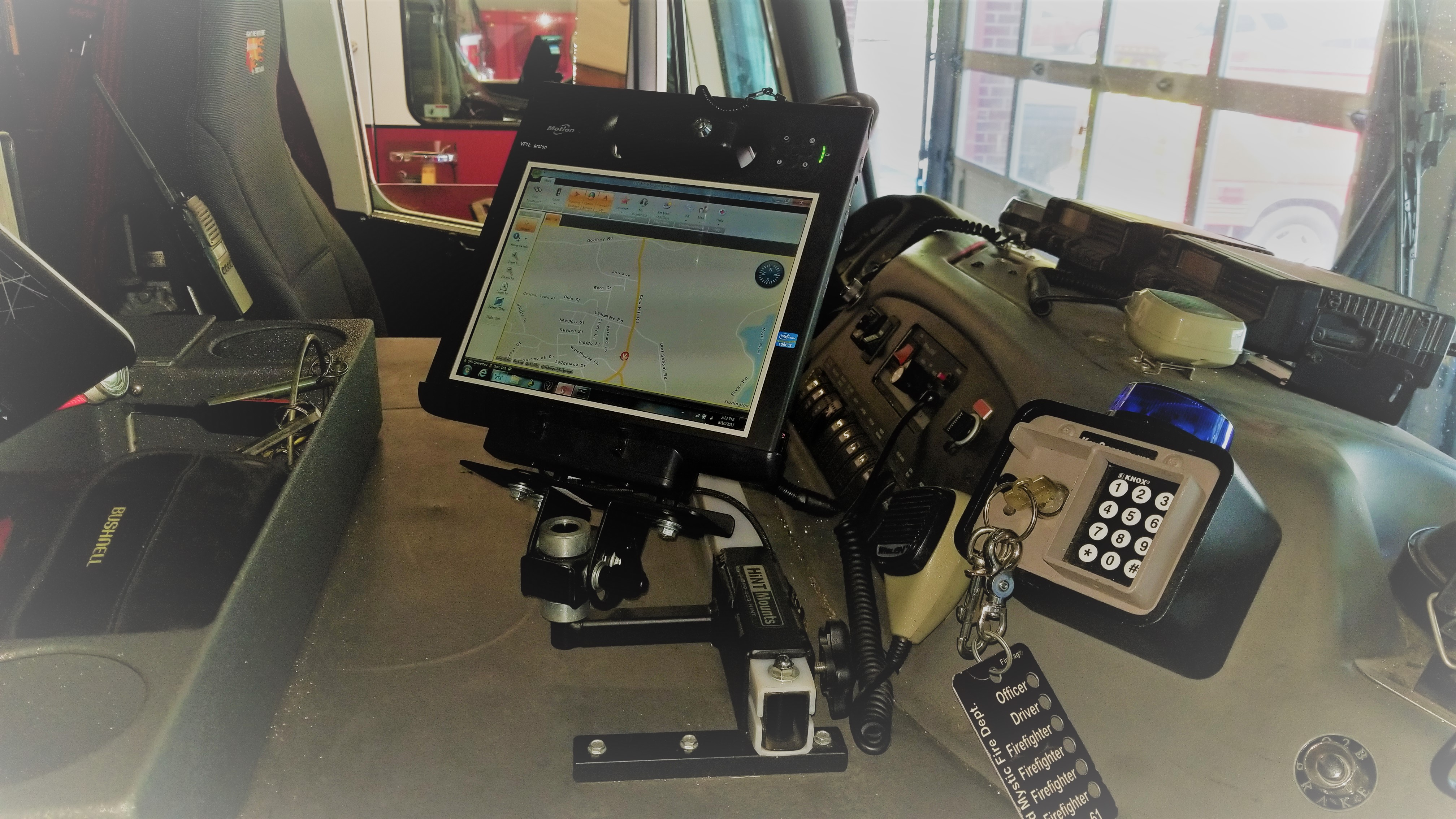 MDT Software Mounted in Vehicle