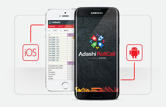 Adashi RollCall Public Safety Scheduling Software Mobile Apps