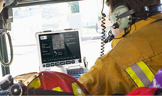 FirstResponse MDT Software in Vehicle