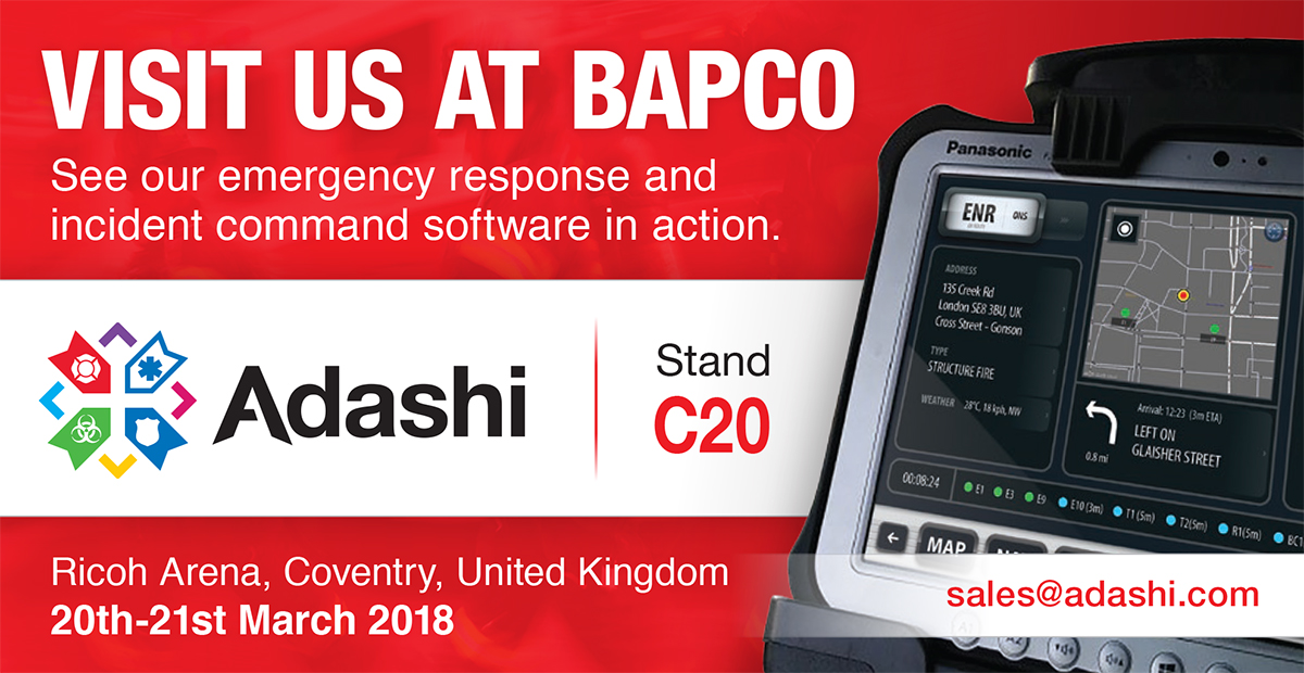 Adashi Incident Response and Command Software Debut UK BAPCO