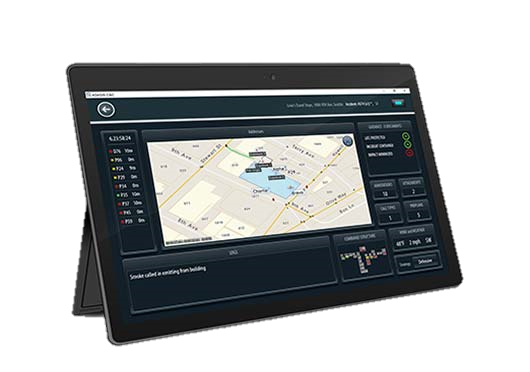 Adashi C&C mapping screen shot on a Surface tablet. Request your demo Today.