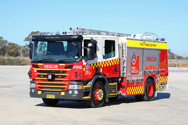 Fire and Rescue New South Wales Truck